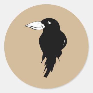 Raven Round Sticker