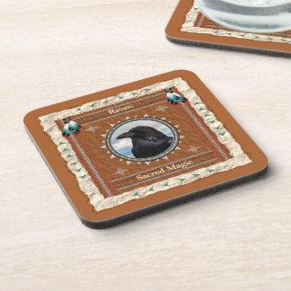 Raven  -Sacred Magic- Cork Coaster Set of 6