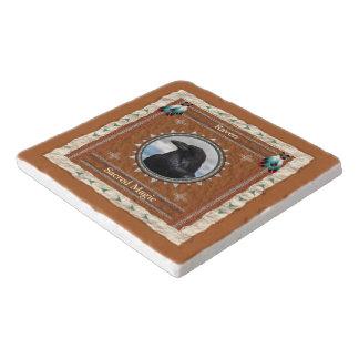 Raven  -Sacred Magic- Marble Stone Trivet