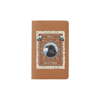Raven  -Sacred Magic- Notebook Moleskin Cover