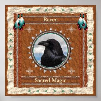 Raven  -Sacred Magic- Poster Print