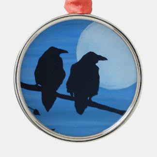 Raven Sentry Metal Ornament