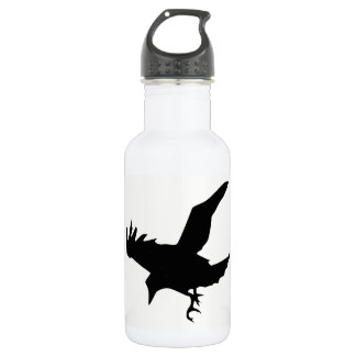 Raven Silhouette 532 Ml Water Bottle