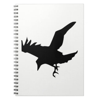 Raven Silhouette Notebook
