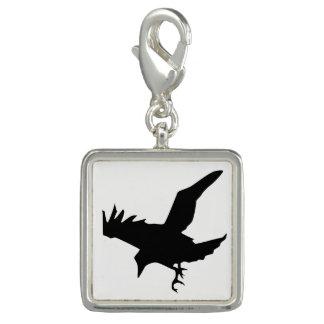 Raven Silhouette Photo Charms