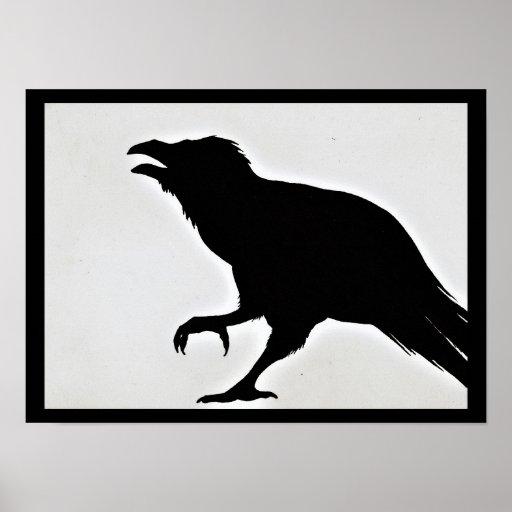 Raven Silhouette Poster