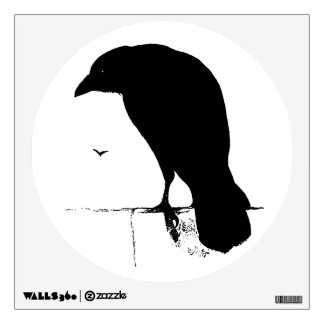 Raven Silhouette - Vintage Goth Ravens & Crows Wall Decal