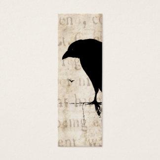 Raven Silhouette - Vintage Retro Ravens & Crows Mini Business Card