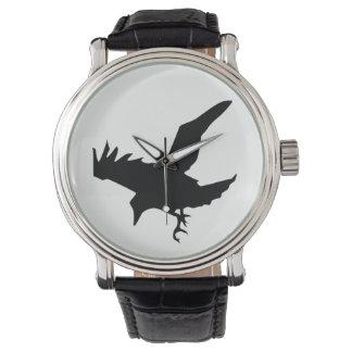 Raven Silhouette Watch