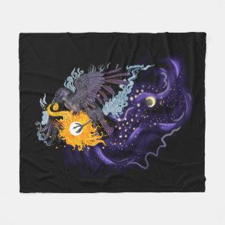 Raven Sky Folklore Fleece Blanket