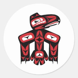 Raven Spirit Classic Round Sticker