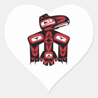 Raven Spirit Heart Sticker