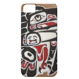 Raven Stealing The Sun Hand painted cedar Case For The iPhone 5