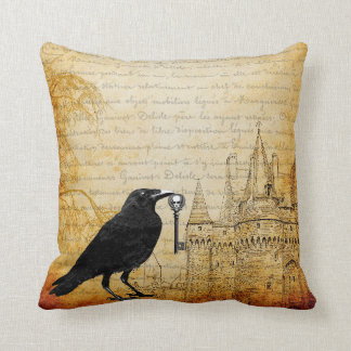 Raven Steals The Keys To The Castle Throw Pillow
