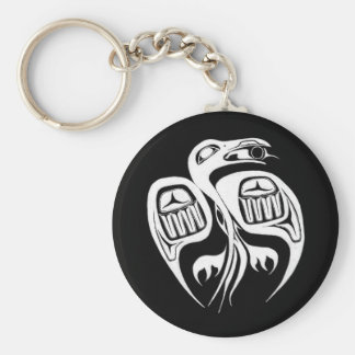 raven steals the sun , or is it the moon? keychain