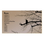Raven sur l'arbre cartes de visite professionnelles