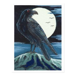 Raven & the Moon Postcard