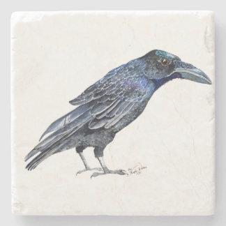 Raven tile stone coaster