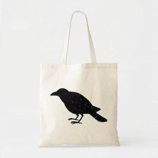 Raven Tote Bag Raven Crow Bag Black Bird Tote Bag
