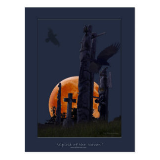 Raven & Totems Post Cards