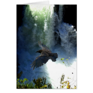 RAVEN & WATER FALL Nature Gifts Card