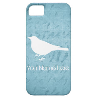 Raven White Silhouette –Add Name- Case For The iPhone 5