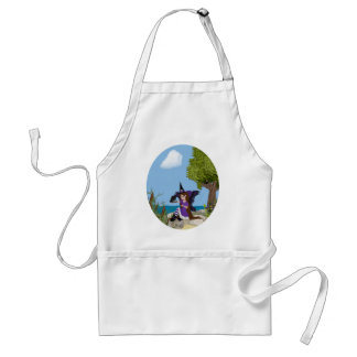 Raven Witch Faery Adult Apron