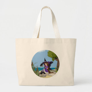 Raven Witch Faery Canvas Bags