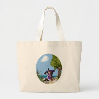 Raven Witch Faery Jumbo Tote Bag