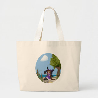 Raven Witch Faery Large Tote Bag