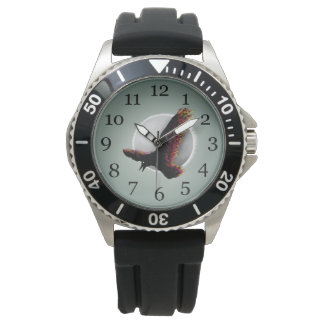 Raven With ColoR Splattered Wings Wrist Watch