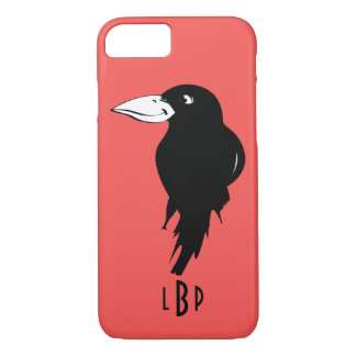 Raven with Monogram iPhone 7 Case