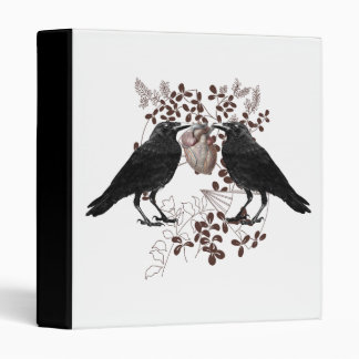 Ravens and Heart 3 Ring Binder