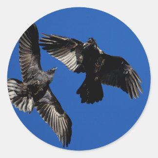 ravens classic round sticker