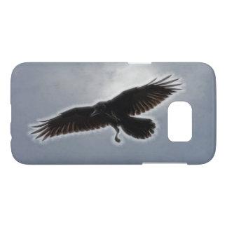 Raven's Descent Fractal Print Samsung Galaxy S7 Case