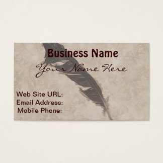 Raven's Feather Bird-lover Crow design Business Card