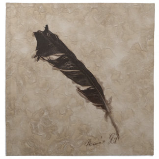 Raven's Feather Bird-lover Crow design Napkin