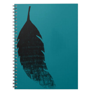 Raven's feather spiral notebook