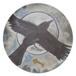 Raven's gift  - plate
