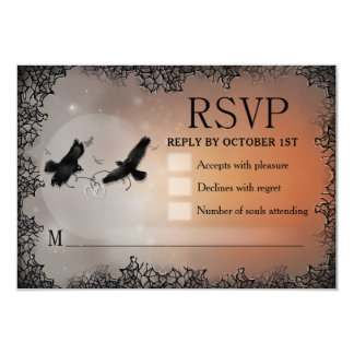 Ravens Halloween RSVP 3.5x5 Matching Reply Card