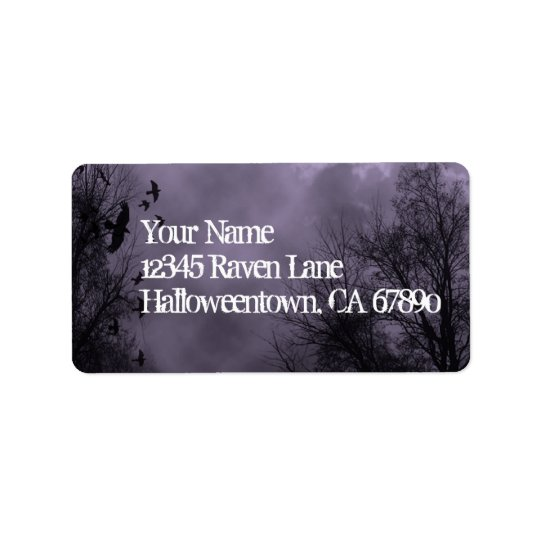Ravens Haunted Sky Purple Mist Custom Address