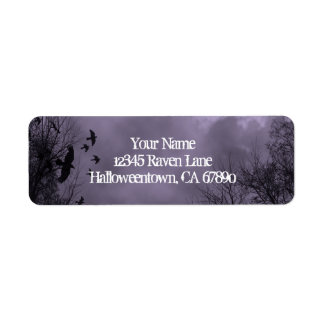 Ravens Haunted Sky Purple Mist Return Address