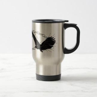 Ravens In Flight Travel Mug