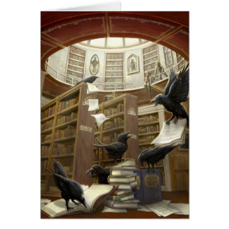 Ravens in the Library Card