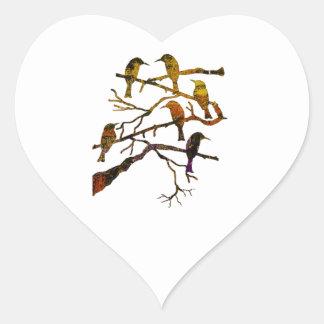 Ravens in the Mist Heart Sticker