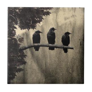 Ravens Perched Tile
