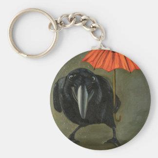 ravens rain 2 basic round button keychain