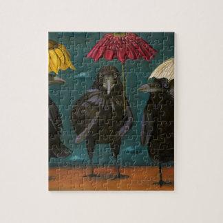 Ravens Rain Jigsaw Puzzle
