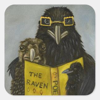 Ravens Read Square Sticker