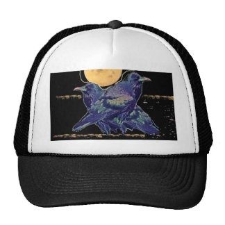 Ravens Spooky Moon by Sharles Trucker Hat